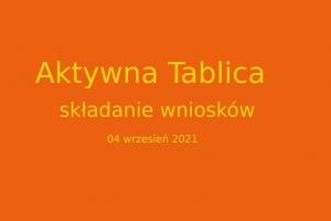 Aktywna Tablica do 4 września !!